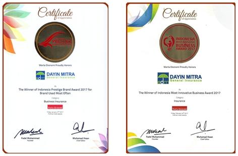 Certificate Dayin Insurance